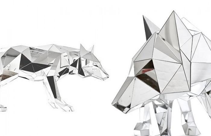 Animal Sculptures Made Of Mirror Arran Gregory