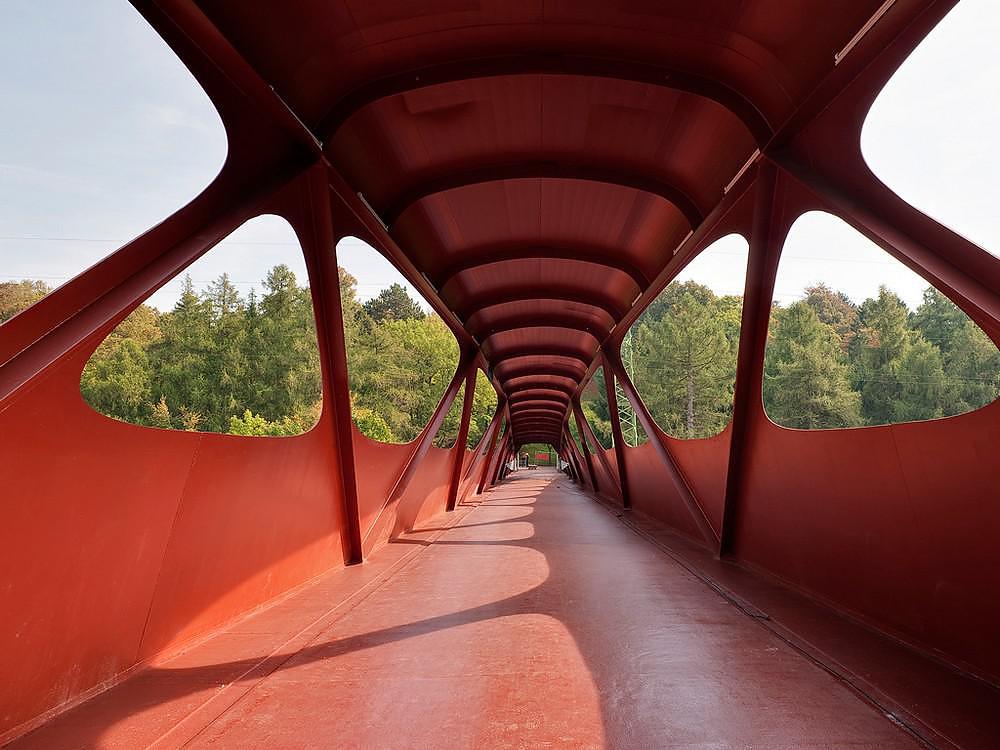 Pedestrian bridge in esch sur alzette luxembourg - Piscine a esch sur alzette ...