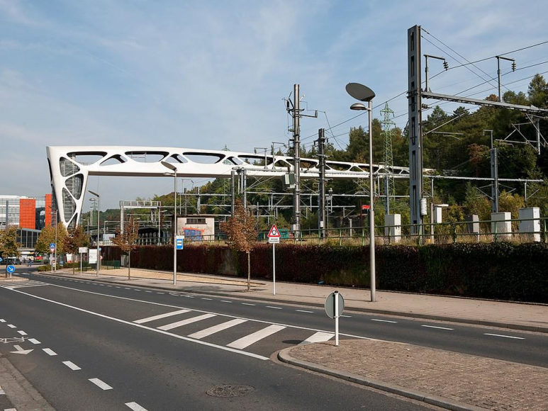 Pedestrian Bridge in Esch sur Alzette, Luxembourg.