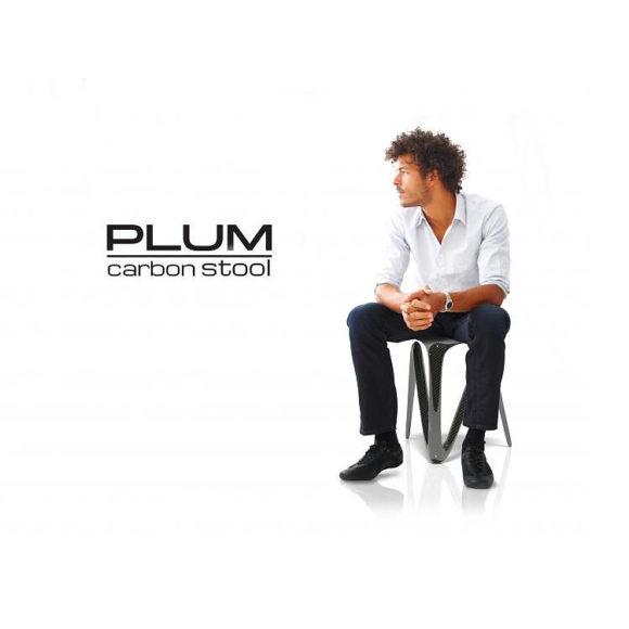 Plum Carbon Fiber Stool by Alvaro Uribe.