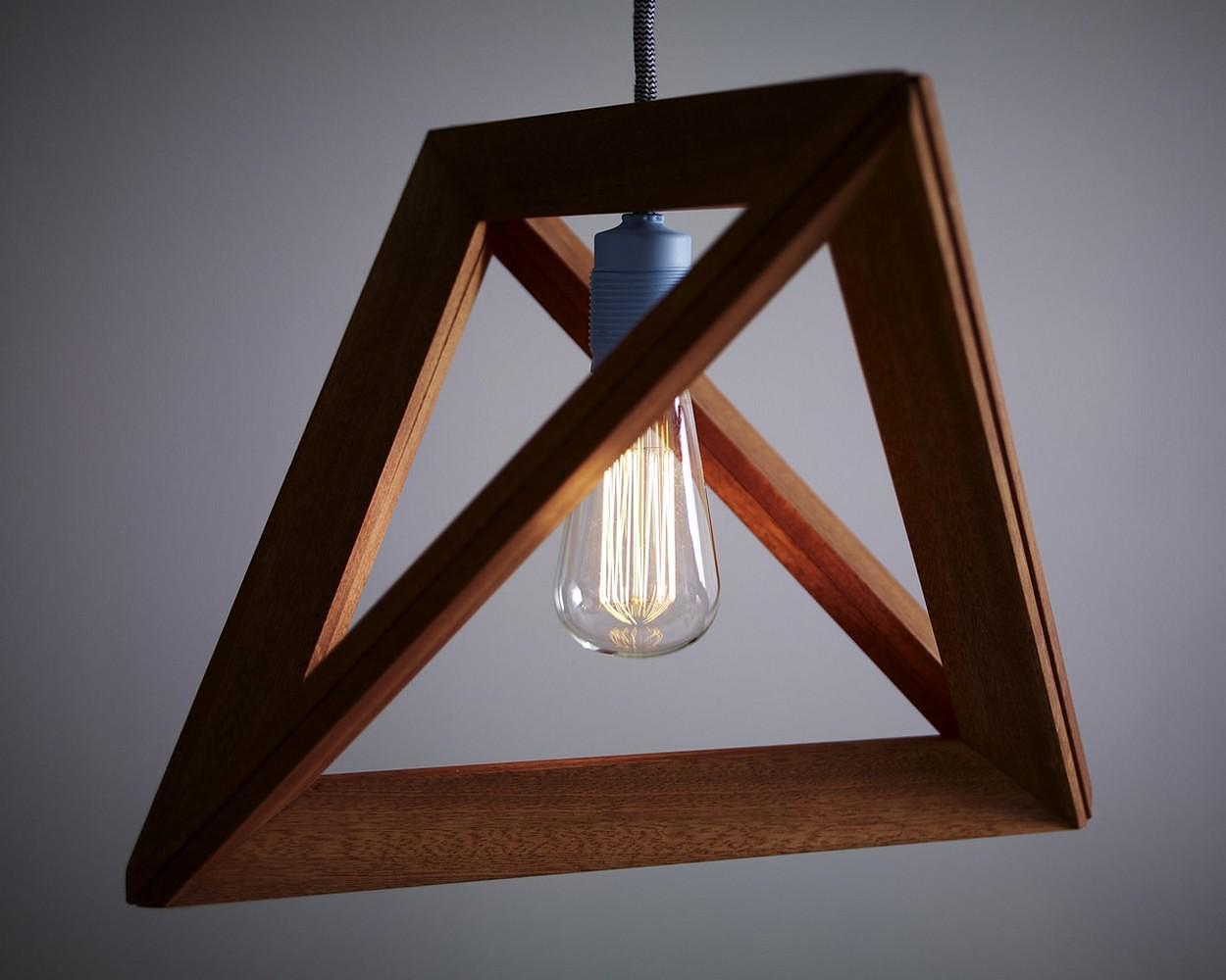 Lightframe Wooden Pendant Lamp by Herr Mandel.