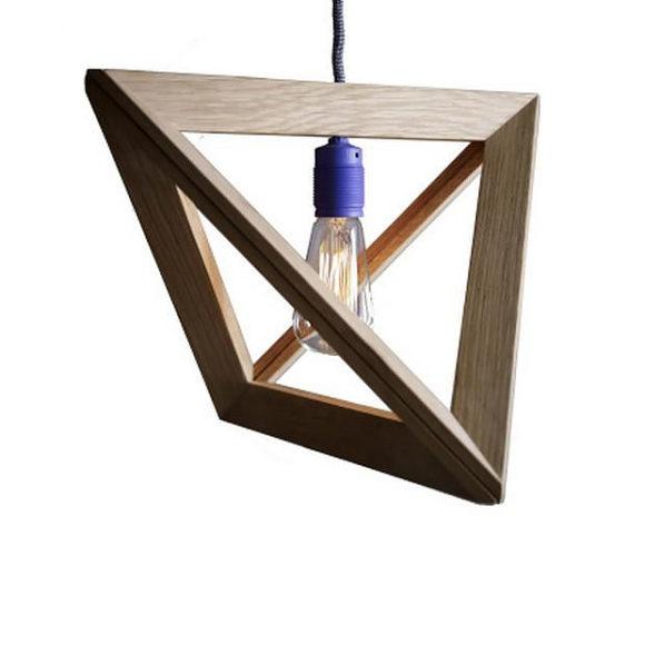Ξύλινο φωτιστικό Lightframe από τον Herr Mandel.