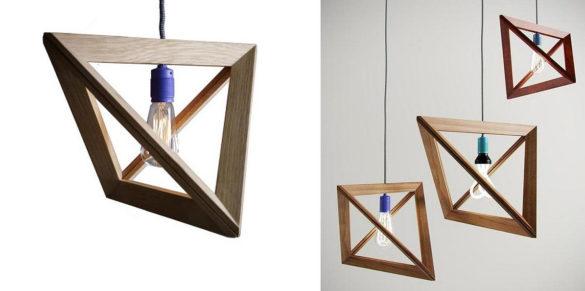 Lightframe Geometric Wood Pendant Lamp by Herr Mandel
