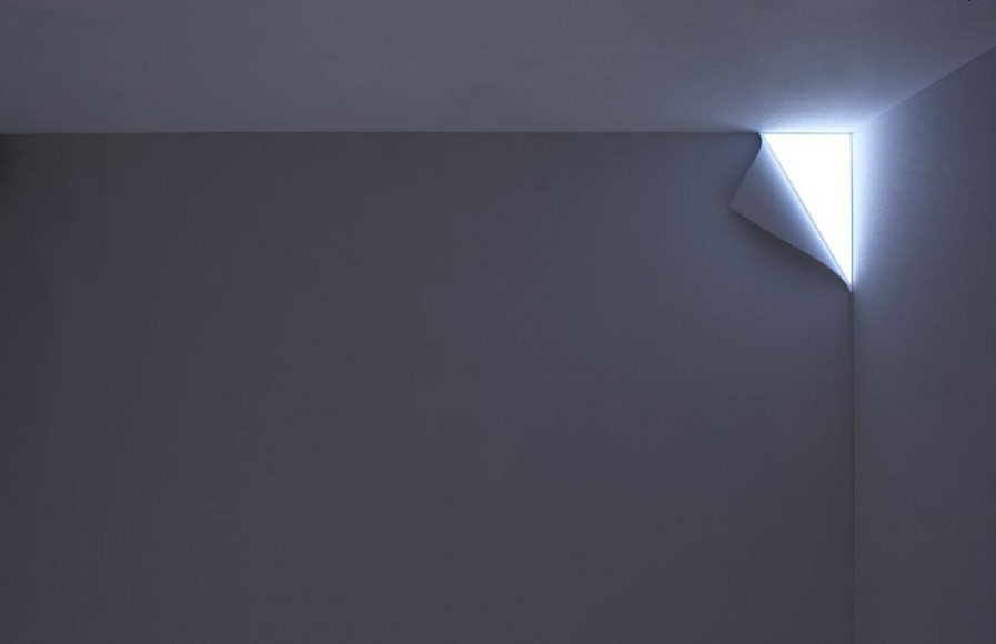 Μίνιμαλ φωτιστικό τοίχου Peel από το YOY Design Studio.