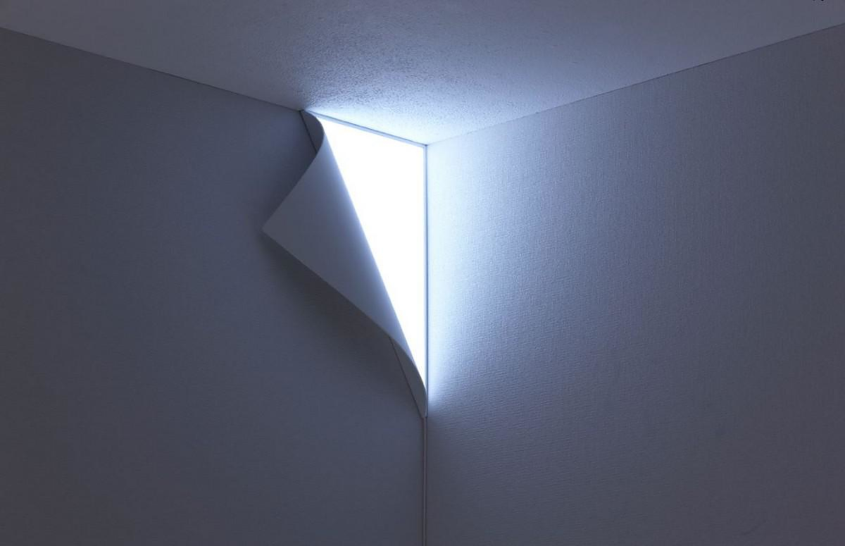 Corner Wall Peel Light : Peel wall light by YOY Design Studio. - Design Is This