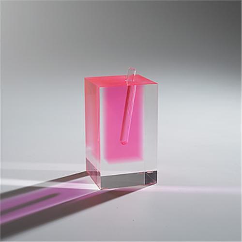 Acrylic Flower Vase #3 by Shiro Kuramata & Ishimaru.