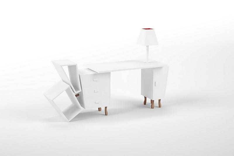 Unusual Desk, Kenn Desk by Kenyon Yeh for SELETTI.