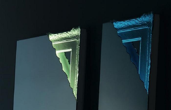 Καθρέφτης με φωτισμό Breccia της Miniforms.
