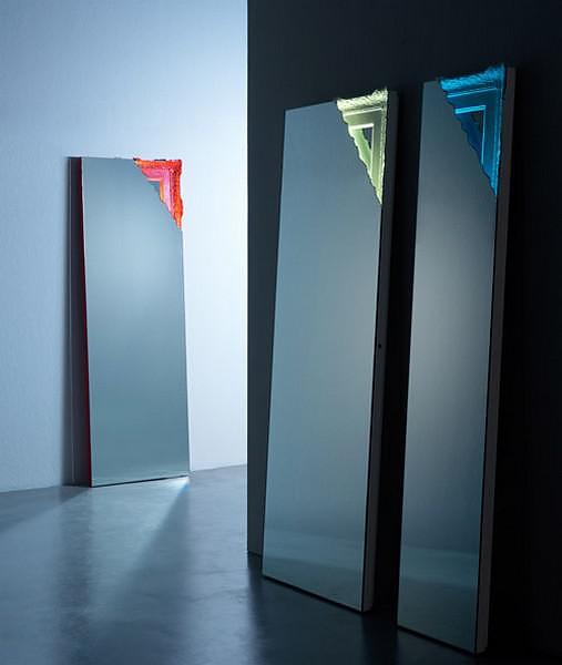 Breccia LED Light Mirror by Miniforms.