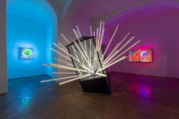 Luminescence Light Installations by Hans Kotter