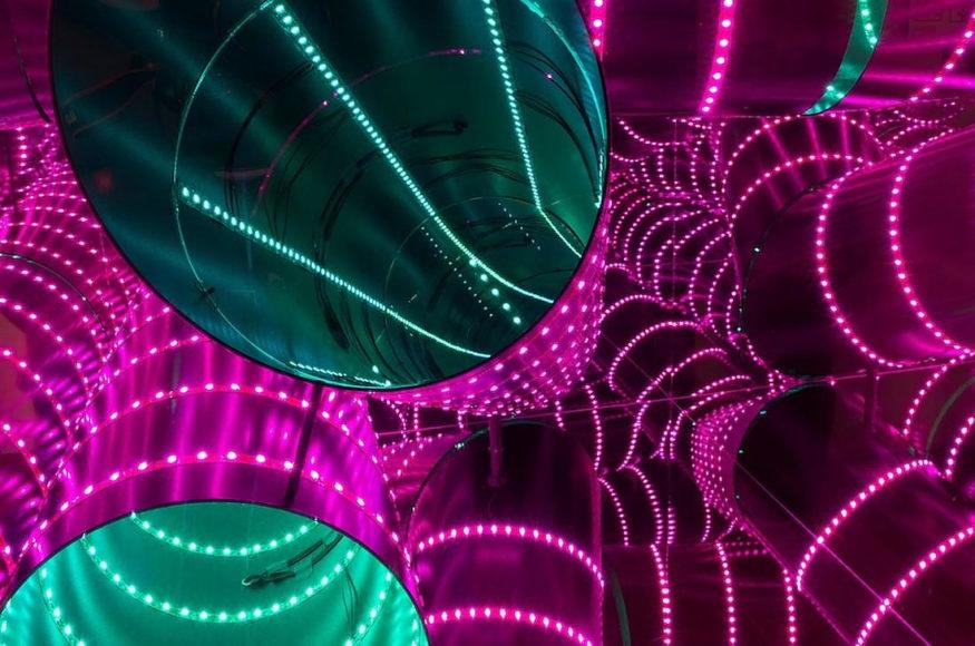 Luminescence εικαστικές εγκαταστάσεις φωτός από τον Hans Kotter.