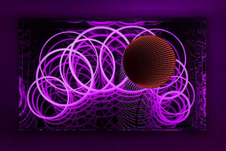 Luminescence Light Installations by Hans Kotter.