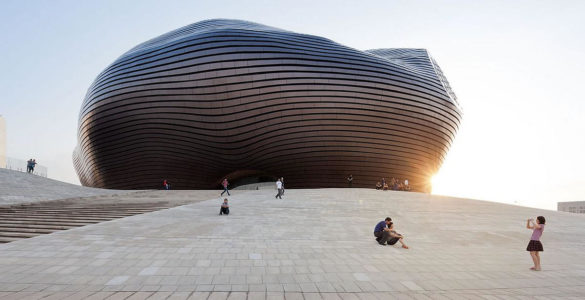 Ordos Museum by MAD Architects in Gobi Desert