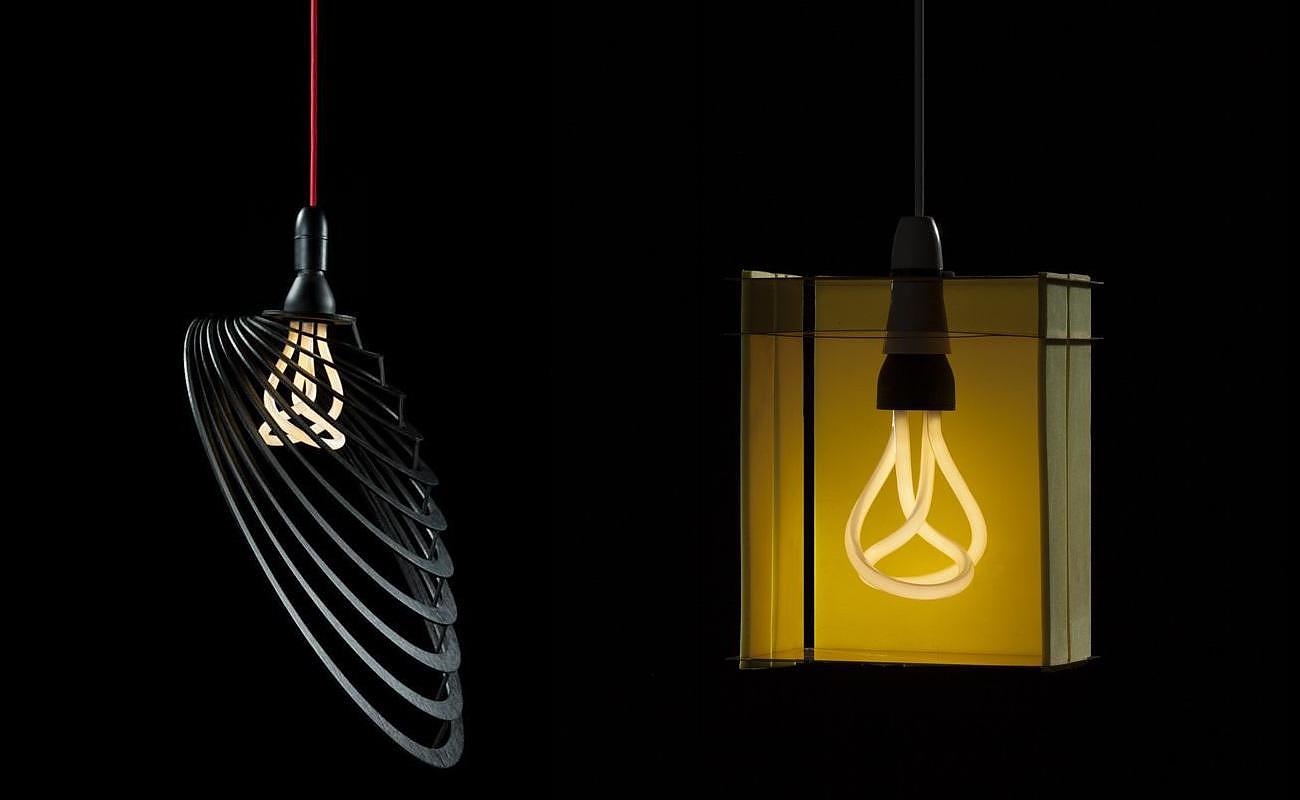 Designer lamp shades for the plumen bulb by university students aloadofball Choice Image