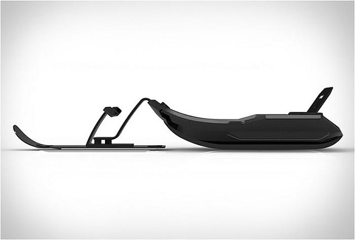 Stealth-X Carbon Fiber Snow Sled, Extreme Sledging.