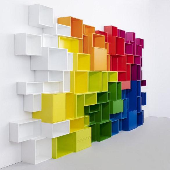Cubit modular shelving system