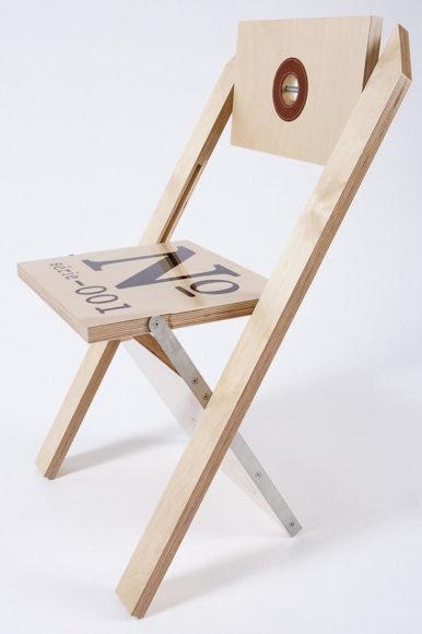 Label Folding Chair by Felix Guyon for LA FIRME.