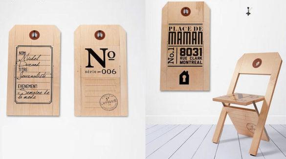 Label Folding Chair by Felix Guyon for LA FIRME