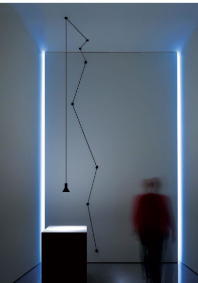 N-EURO Suspension Lamp by Davide Groppi and Beppe Merlano.