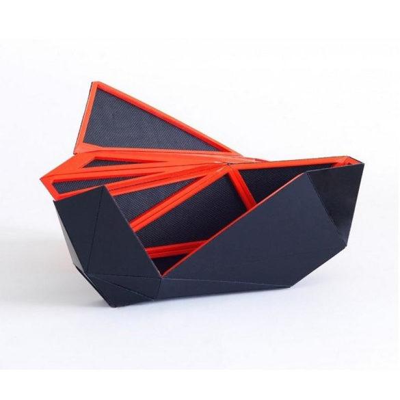 Orishiki origami inspired clutch bag by Naoki Kawamoto