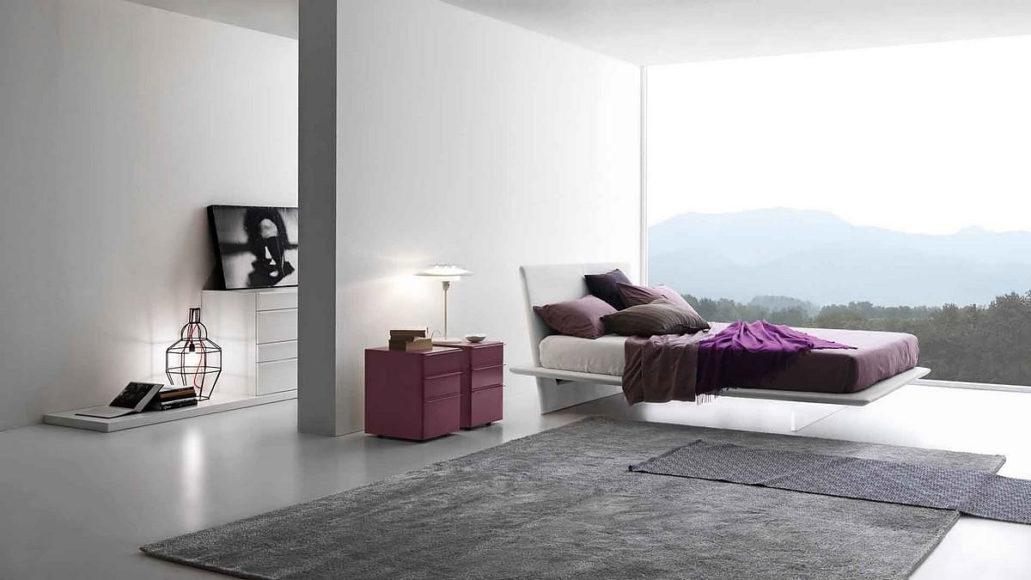 Κρεβάτι Plana του Claudio Lovadina για την Presotto Italia.