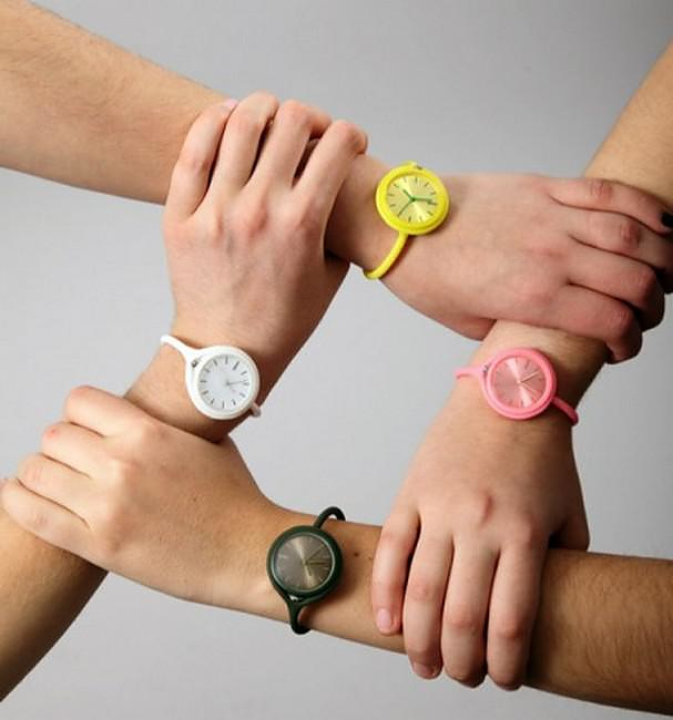 Flexible Take Time Wrist Watch by LEXON.