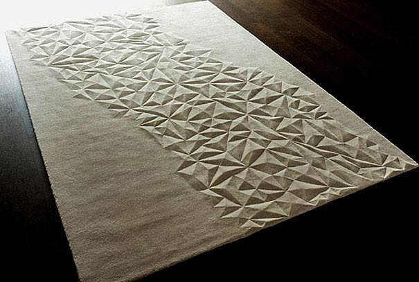 Minimalist 3D Carpets by Top Floor.
