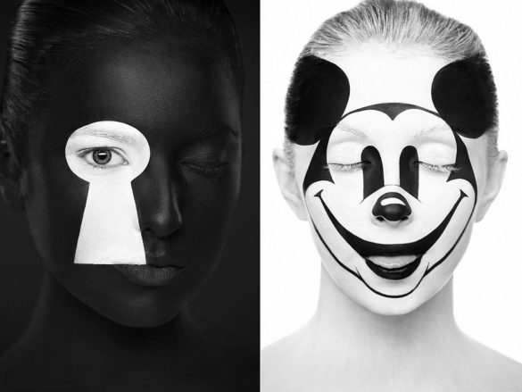 Weird Beauty Face Paintings by Alexander Khokhlov