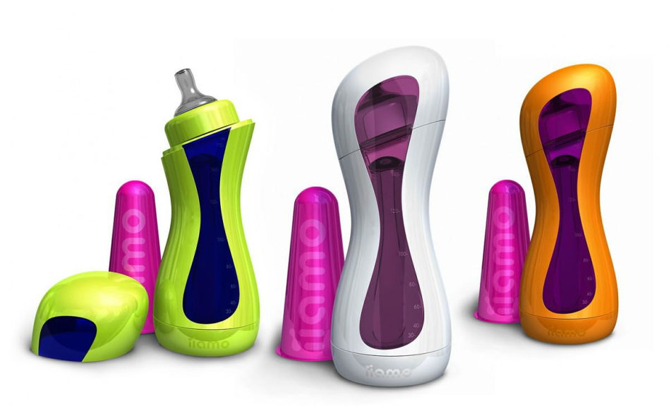 iiamo Go self-warming baby feeding bottle by Karim Rashid.