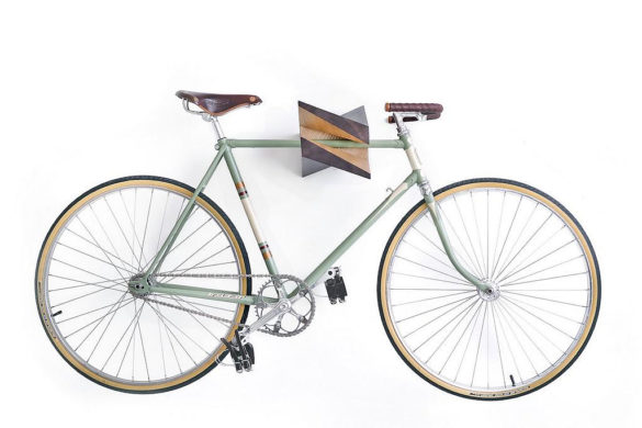 Iceberg bicycle wall mount by Woodstick