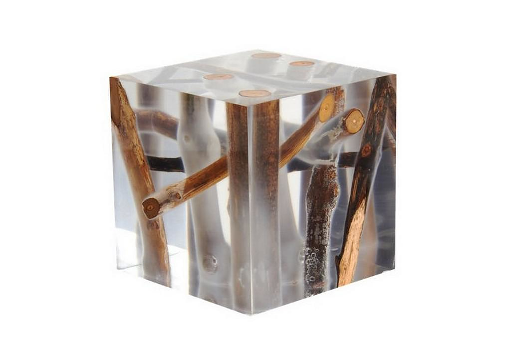 Kisimi Frosted Driftwood Cube by Bleu Nature.