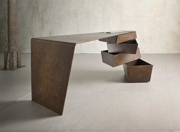 Torque Metal Desk by IM Lab