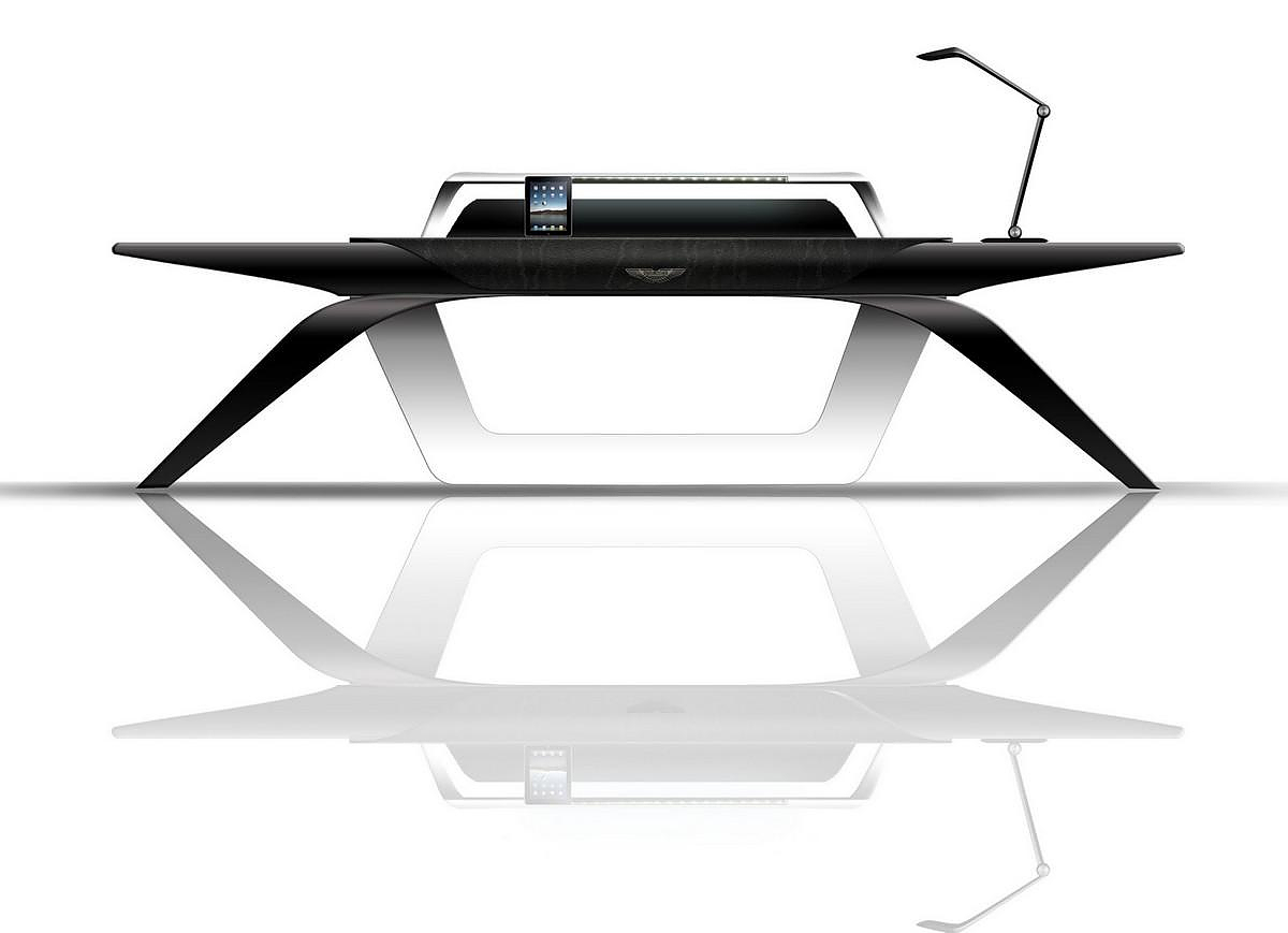 Aston martin office desk by formitalia luxury group for Design table top konkrit
