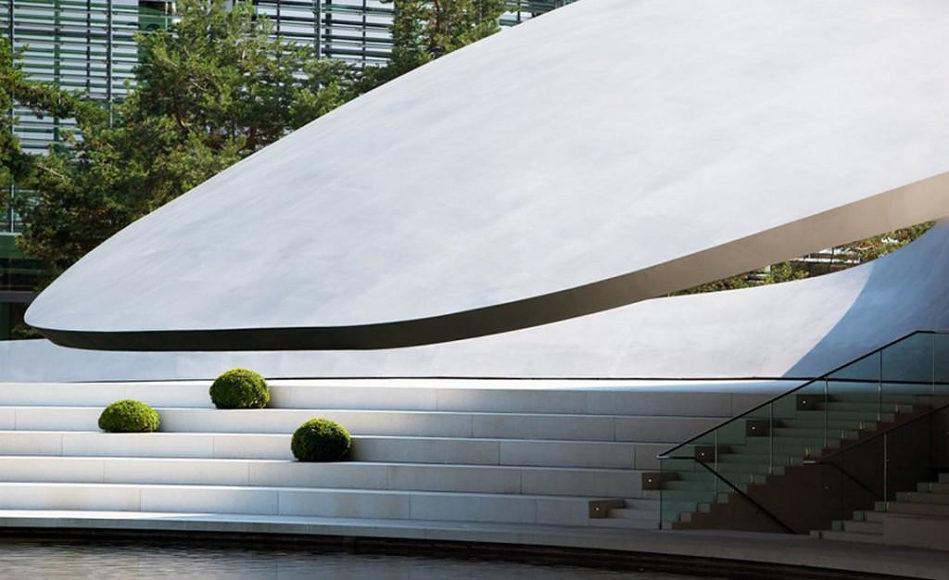 Εκθετήριο Porsche Pavilion από τους Henn Architekten.