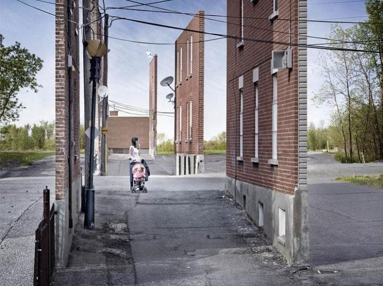 """Σουρεαλιστική Φωτογραφία: Αστικά Τοπία """"Façades"""" του Zachary Gaudrillot-Roy"""