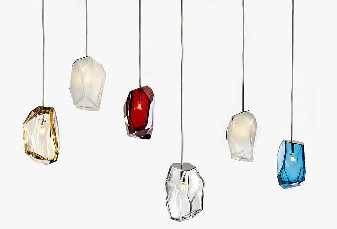 crystal rock lights by arik levy for lasvit design is this. Black Bedroom Furniture Sets. Home Design Ideas
