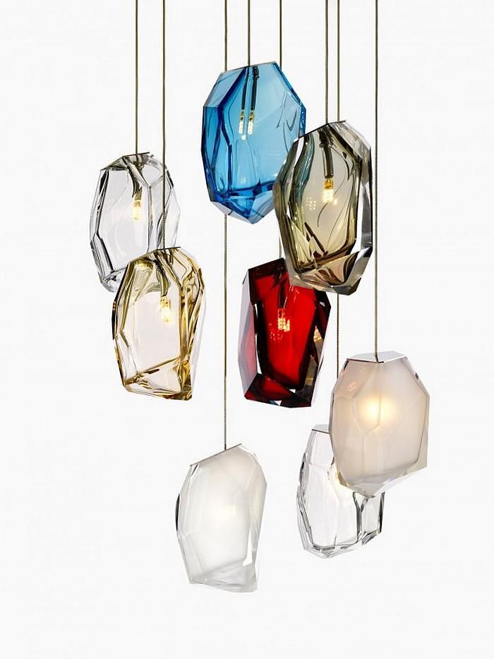 Crystal Rock Lights by Arik Levy for Lasvit.