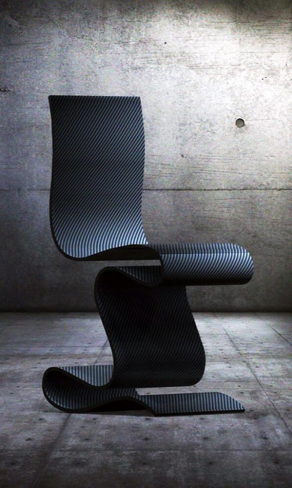 SCULPTURE Carbon Fiber Chair by Ventury Lab
