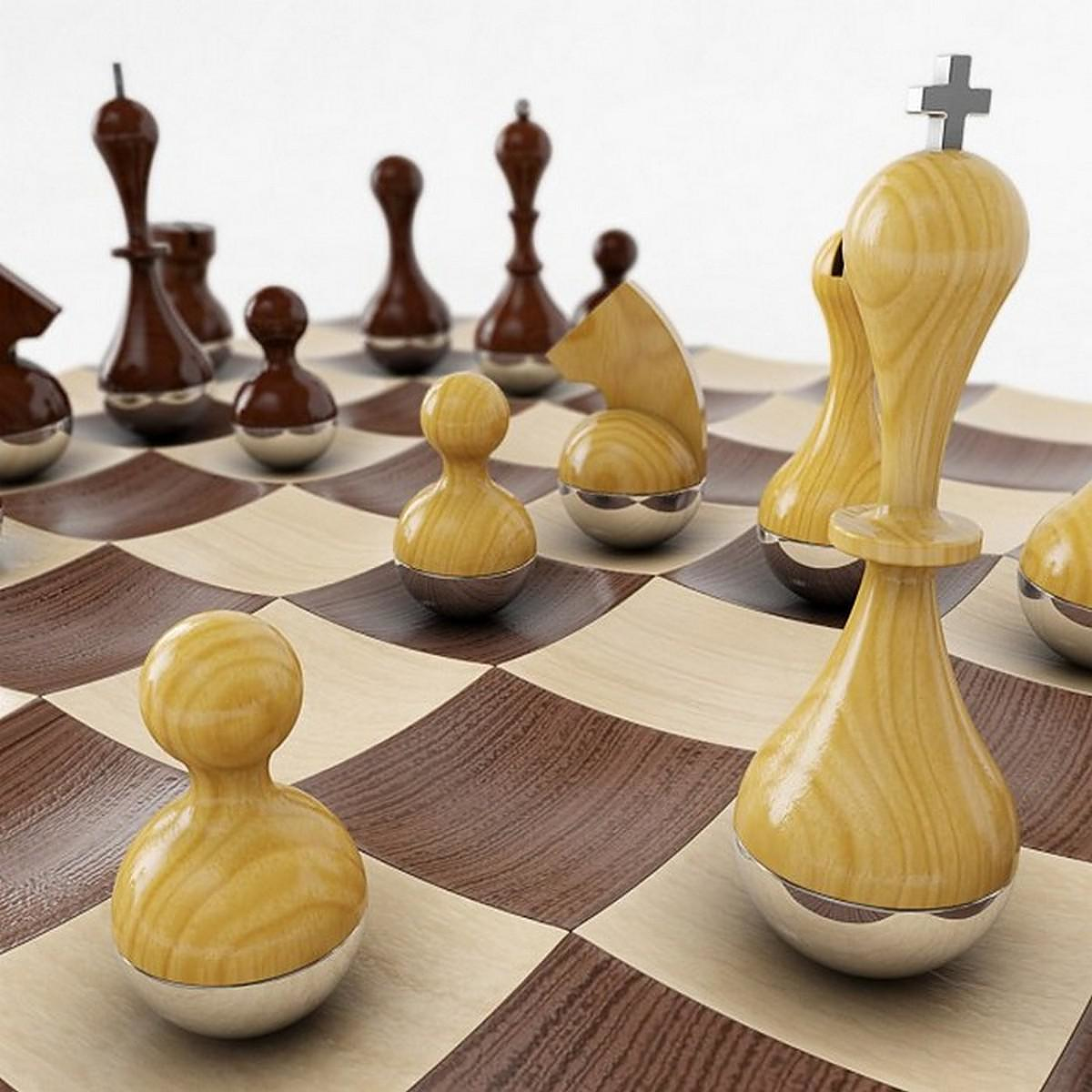 Wobble chess set by adin mumma for umbra design is this - Wobble chess set by umbra ...