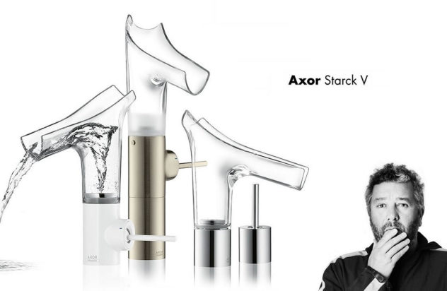 Axor Starck V Transparent Glass Faucets Hansgrohe