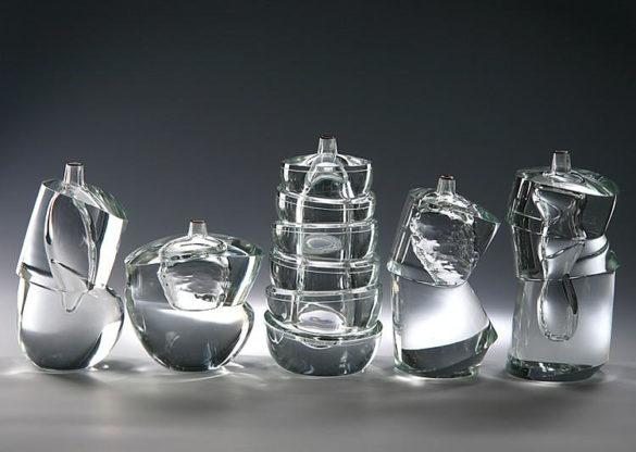 ECristallo Sommerso Murano glass vase collection by Yoichi Ohira