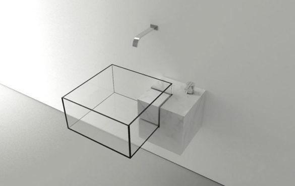 Minimal Glass Basin Kub Victor Vasilev