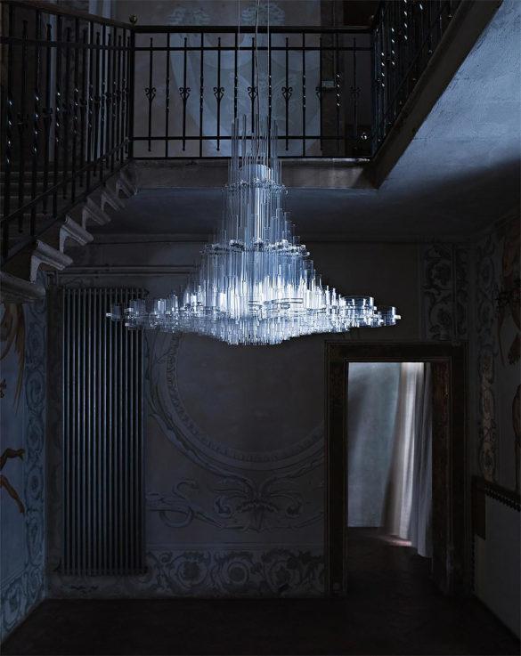 Uma Chandelier Light by Giancarlo Tintori for Nemo Cassina