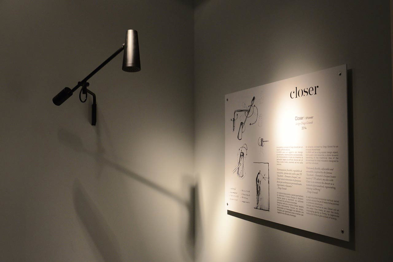 Closer Showerhead by Diego Grandi for Zucchetti Kos.