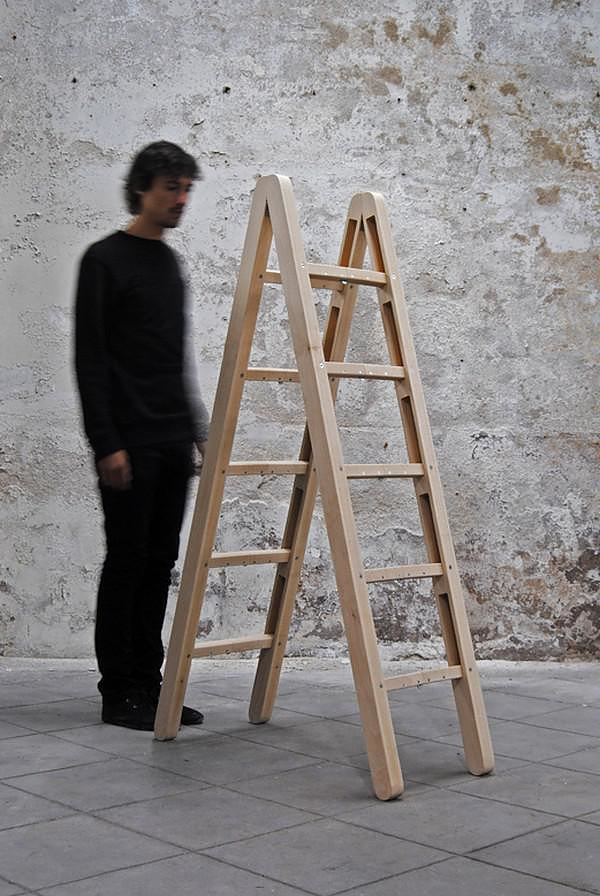 Corner Ladder, an inventive folding ladder by Company & Company.