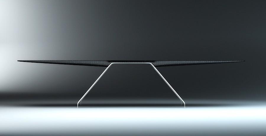 Flight Desk a Minimalist Carbon Fiber Desk by Tierney Haines Architects.