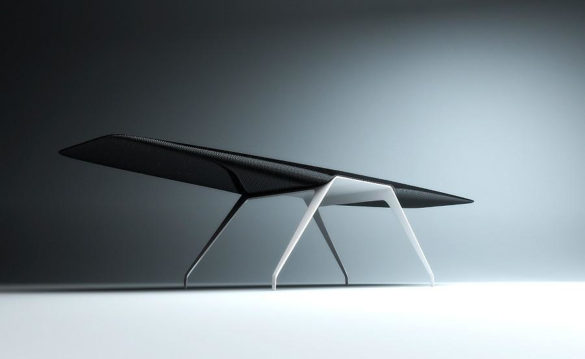 Flight Desk - carbon Fiber Desk Tierney Haines Architects