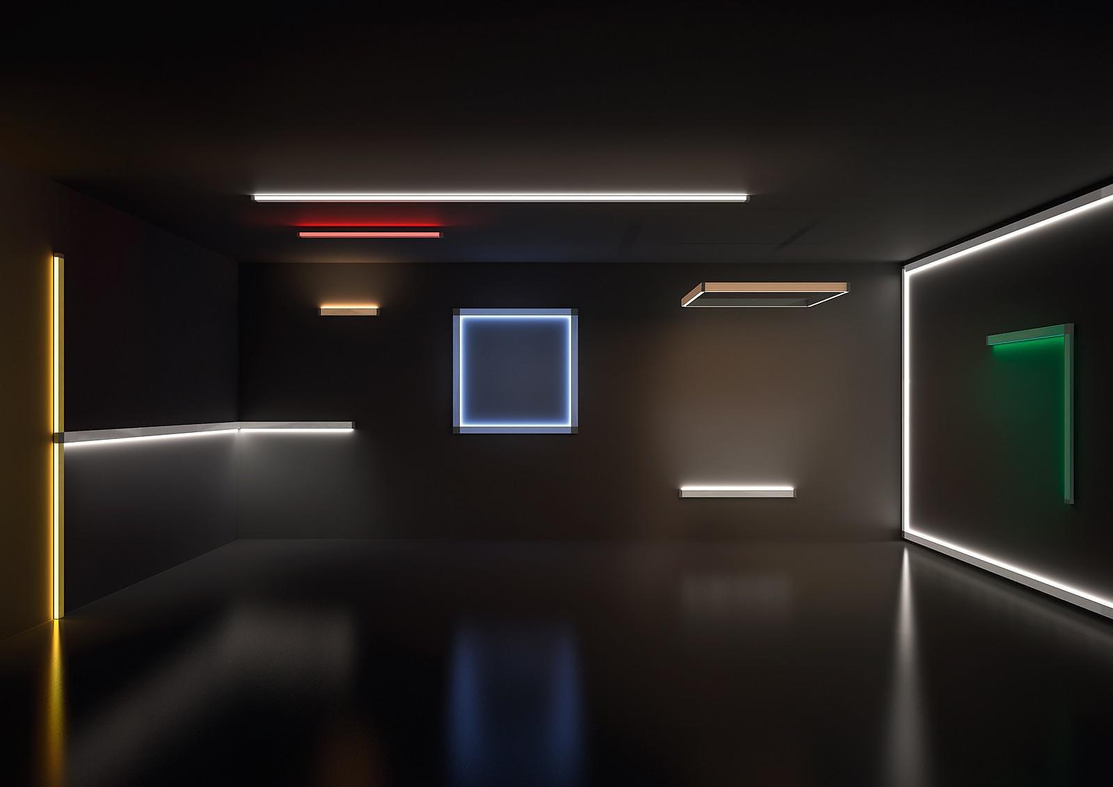 Scrittura Linear LED Modular Lights by Artemide.