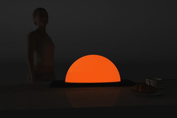 Sunrise inspired lamp