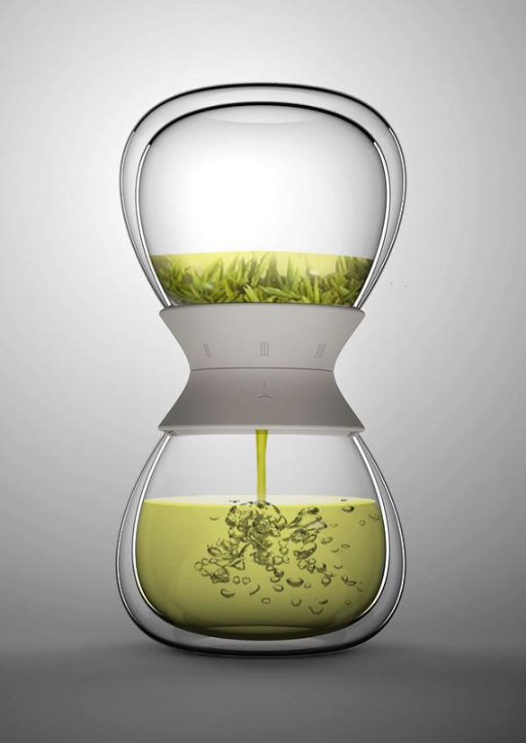 Tea Time Hourglass tea steeper Pengtao Yu